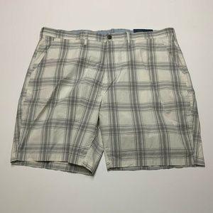 Croft & Barrow Poplin Flat Front Plaid Shorts
